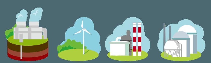 各電力会社の電源構成一覧 イメージ画像