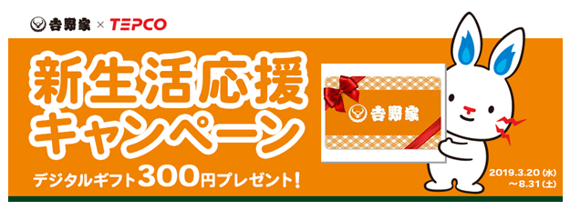 東京電力キャンペーン特典イメージ画像