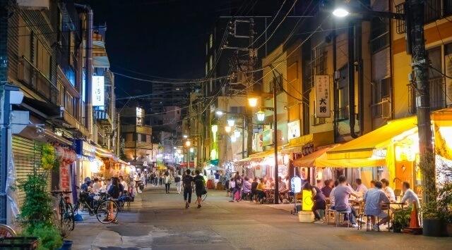 関東地方の観光イメージ画像「浅草ホッピー通り」