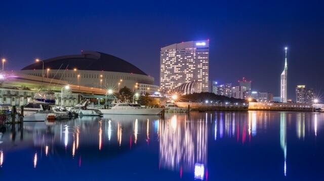 九州地方の観光地「博多の夜景」イメージ画像