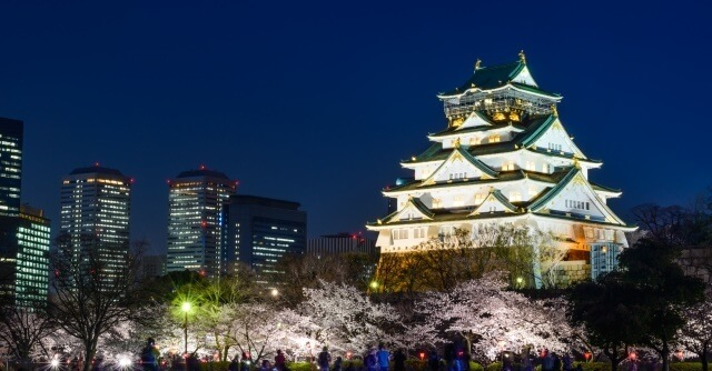 夜の大阪城イメージ画像