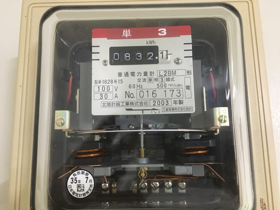 旧式の電力計の画像