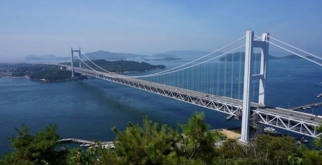 四国地方の観光地「瀬戸大橋」イメージ画像