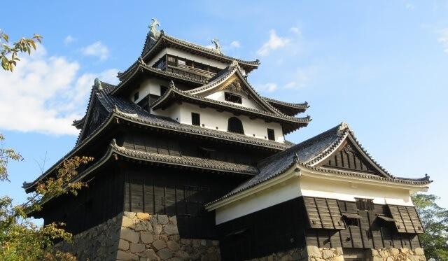 中国地方の観光地 島根県の松江城イメージ画像