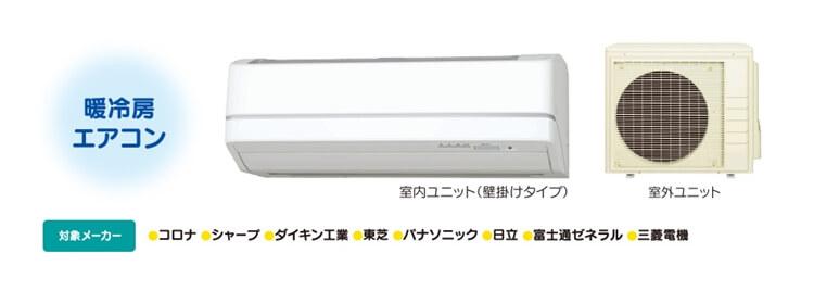 キャンペーン対象機器(エアコンイメージ画像)