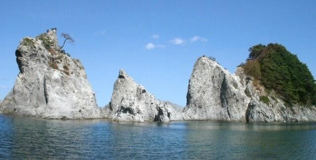 東北地方の観光地 岩手県の浄土ヶ浜イメージ画像