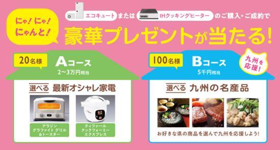 九州電力キャンペーン特典