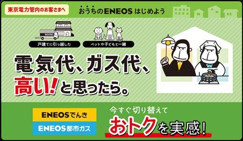 ENEOSの都市ガス&電気
