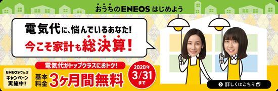 ENEOSでんき基本料金3ヶ月無料キャンペーン