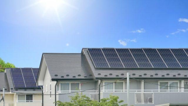 太陽光発電の家庭イメージ