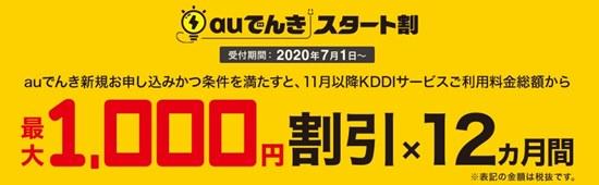 auでんきキャンペーンイメージ