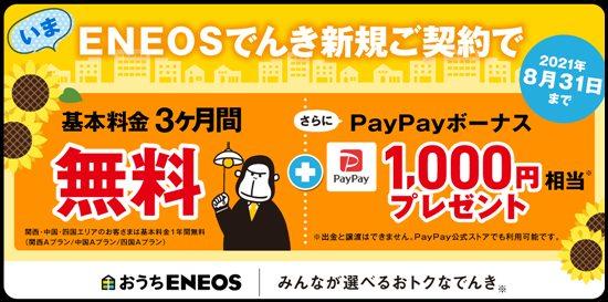 ENEOSでんき夏のキャンペーン