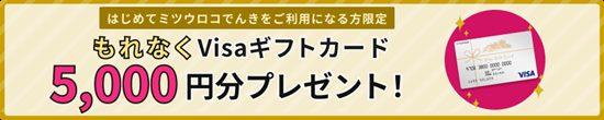 ミツウロコでんきキャンペーンイメージ画像